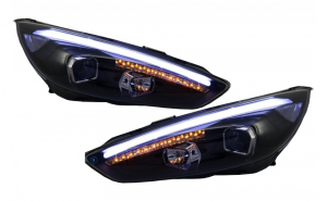 Set 2 faruri LED DRL compatibil cu Ford Focus III Facelift Mk3 (2015-2017), Xenon Look