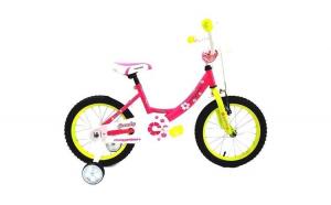 """Bicicleta MAGELLAN Candy 16"""" roz/galben"""