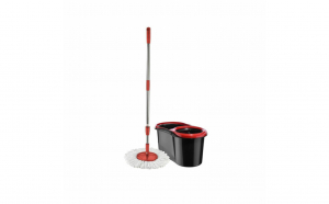 Mop rotativ microfibra 360 grade + coada telescopica + galeata cu storcator, 13L