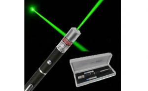 Laser pointer verde 1000 mW, 532 nm puternic, raza de 3 km pe timp de noapte, la 39 RON in loc de 89 RON