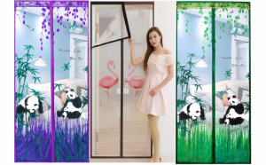 Noul model Perdea Anti-insecte / perdea anti-tantari Model Flamingo sau Panda Bear