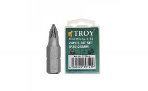 Set de biti Troy T22209, PZ0, 25 mm, 24
