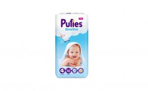 Pufies - Scutece Sensitive, Maxi (4), 56