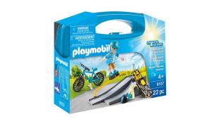 Set Playmobil valiza skateboarder, contine o figurina, multifunctional, Multicolor *