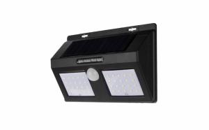 Lampa cu 40 LED dubla cu incarcare solara si senzor de amurg si de miscare