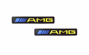 "Set 2 x Ornament prag auto cu iluminare led Mercedes-Benz ""AMG"""