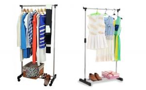 Suport haine metalic, mobil, pentru imbracaminte