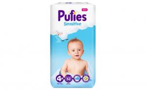 Scutece Pufies Sensitive, 4+ Maxi +