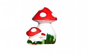 Figurina ciuperca, din ceramica