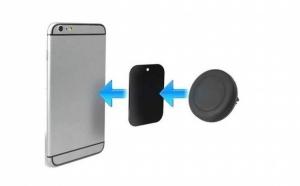 Set 2 suporturi auto pentru telefon - cu pad-uri magnetice, acum la pretul de 70 RON in loc de 140 RON.