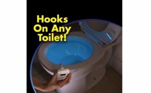 Dispozitiv pentru toaleta, cu senzor de miscare si 7 culori