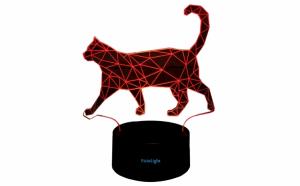Lampa 3D LED Pisica 2