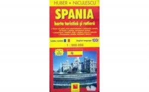 Spania. Harta turistica si rutiera, autor Huber Kartographie
