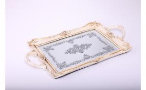 Tava rasina cu oglinda,vintage,cu manere, Decoratiuni Casa