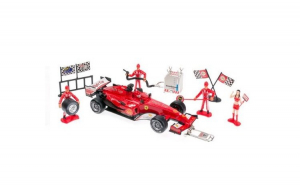 Masina Formula 1 Rosie cy Racing in Pit Stop 1:18