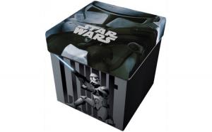 Taburet pliabil cu spatiu de depozitare Star Wars Star ST41422 Initiala