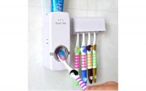Dozator pasta de dinti cu suport pentru periute, la doar 25 RON in loc de 50 RON
