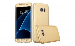Husa 360 Grade Samsung Galaxy S7 Edge, Gold