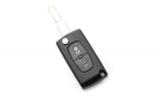 Citroen / Peugeot 406 - Carcasa tip cheie briceag cu 2 butoane, lama NE78-SH2 cu suport baterie