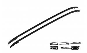 Set 2 bare verticale, portbagaj compatibil cu Land Rover Range Rover Evoque (2011-up), Negru Lucios