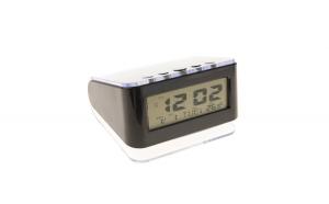 Set Ceas Digital 813 cu Termometru, Calendar, Alarme si Lumina de Fundal, Negru si Modulator Centenar KC-681