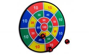 Joc Darts velcro, 3 mingi, 37 cm