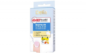 Tratament crema pentru cuticule Delia Cosmetics Repair Cream Help for Nails  Cuticles, Vitamina C, 14 ml