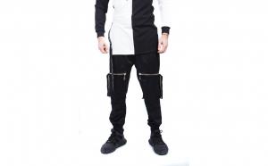 Pantaloni Barbati Gosse, Black, Zipper, TeamDeals 10 Ani, Fashion