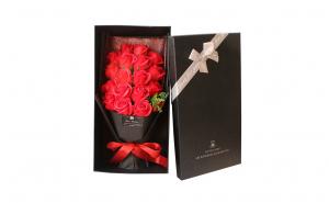 Buchet 18 trandafiri din sapun in cutie Cadou - Rosu