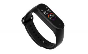 Bratara Fitness Wearfit M4 IPS, Model 2019, Ritm Cardiac, tensiunea arteriala, calorii, monitorizare somn, rezistent apa IP67, Arata Vremea, Multisport, Negru