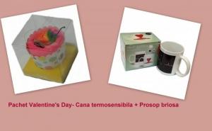 Cadou Valentine's, cana termosensibila + prosop briosa la doar 45 RON in loc de 95 RON