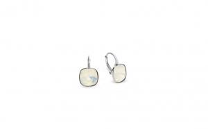 Cercei Square Leverback Mini White Opal