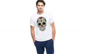 Tricou barbati alb - Sugar Skull