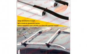 Kit set bare portbagaj cu cheie SKODA Fabia III 2015-prezent Combi / Breck / Caravan - Aluminiu - BRT021