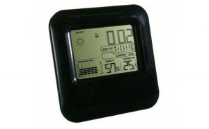Statie meteorologica de interior cu afisaj digital  indicator umiditate  calendar  ceas alarma