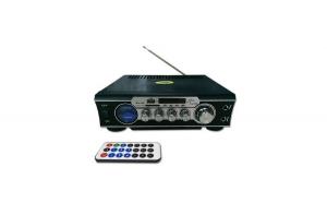 Amplificator digital, tip Statie, 2x30 W, telecomanda, USB-SD, 2 intrari microfon
