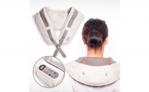 Aparat pentru masaj cervical, bej, 40 moduri de masaj