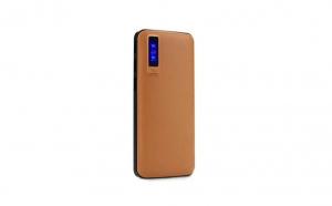 Baterie externa 20000 mAh, 3 x USB design piele