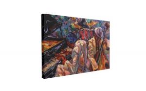 Tablou Canvas Jazz Music, 40 x 60 cm, 100% Poliester