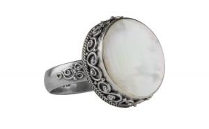 Inel dama argint 925 cu sidef Round