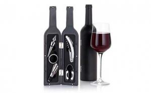 Set 5 accesorii din metal pentru vin,6