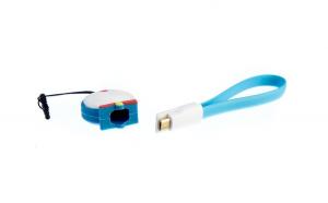 Cablu de date cu figurina, Albastru