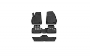 Set Covorase Tavita Negre Opel Zafira 2012-> 7 Locuri Novline NVFOPBL5027