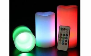 Set 3 lumanari cu LED si telecomanda