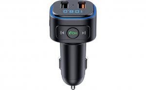Modulator FM Bluetooth Serioux, QC 3.0, USB, Negru