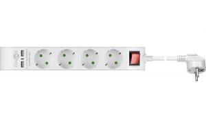 Prelungitor 4 prize 1.4m cu 2x USB 2.1A