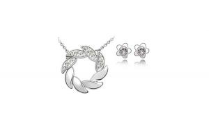 Set de bijuterii cu cristale AMURG ALB