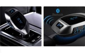 Car Kit auto cu functie de modulator FM, Bluetooth, X6, Telecomanda
