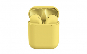 Casti Wireless Stereo inPods12 MACARON Galben Fara Fir Compatibile cu Apple si Android