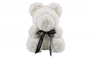 Ursulet  Rose Bear 40 cm alb